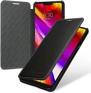 TETDED Premium Leather Case for LG G7 ThinQ/G7+ ThinQ, Book Type DJ2 (Nappa Black)