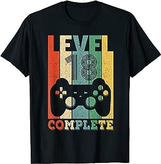 Herren 18. Geburtstag Mann Level 18 Jahre Junge 2003 Deko Geschenk T-Shirt
