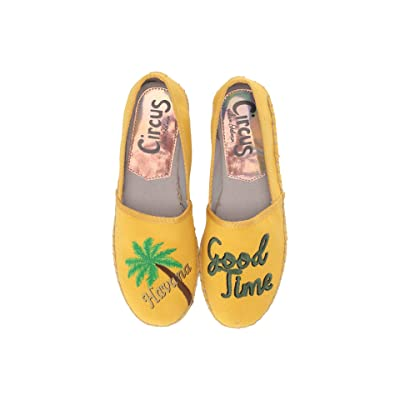 Circus by Sam Edelman Leni-45 (Sunglow Yellow (Havana Good Time) Two-Tone Heavy Canvas) Women