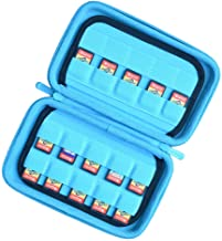 Deluxe Game Card Storage Case for 40 Nintendo Switch Games, Blue