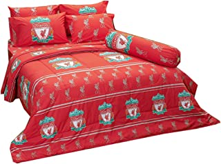 LFC Liverpool Fc Football Club Soccer Team Official Licensed Bedding Set, Fitted Bed Sheet, Pillow Case, Bolster Case, Comforter LI004 Set A+1 (Twin 42