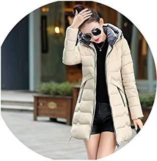 Be fearless Winter Jacket Parka Women Thick Slim Long Warm Hooded Padded Parkas Female