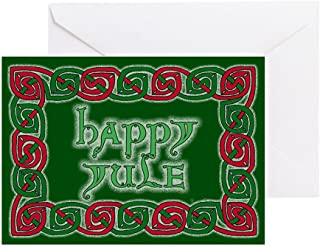 CafePress Celtic Happy Yule Greeting Card (20-pack), Note Card with Blank Inside, Birthday Card Glossy