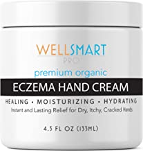 Eczema Hand Cream – Premium Organic Hand Moisturizer Treatment – Faster, Longer Relief for Dry, Cracked Hands & Fingers – Soothes Rash & Irritation - For Adults, Kids, Baby - Fragrance-Free
