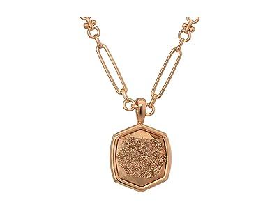 Kendra Scott Davis Short Pendant Necklace (Rose Gold/Rose Gold Drusy) Necklace