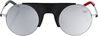 Vysen Rubi Retro Style Sunglasses, Luxury Eyewear Handmade in Italy for Men and Women, Unique Stainless Steel Frame