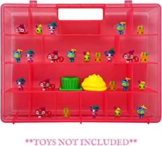 Life Made Better, Durable, Girl's Pink, Toy Storage Organizers Compatible with Animal Jam Mini Toys, Carrying Case by LMB