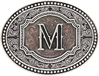 "Montana Silversmiths Men`s Initial""M"" Two-Tone Attitude Belt Buckle - A518m"