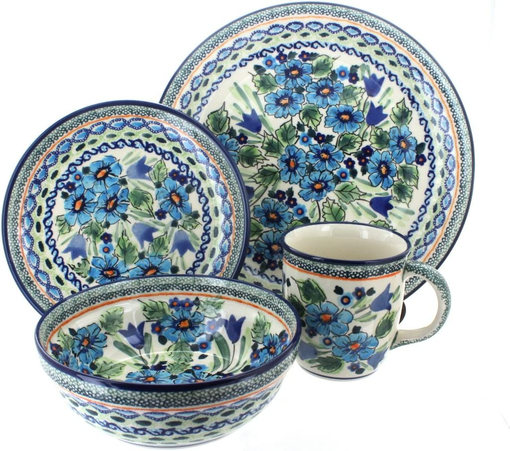 Blue Rose All items in the store Polish Be super welcome Pottery Ballina Set Piece 16 Dinnerware