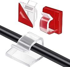 HALOVIE Kabel Clips 120 stks Draad Clips Zelfklevende Kabel Netjes Clips Bureau Draad Organizer Management voor Thuiskanto...