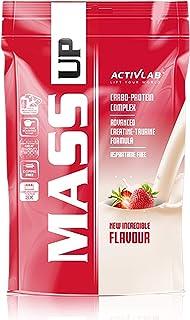 Activlab Mass Up Paquete de 1 x 5000 g Gainer – Carbohidratos con Concentrado de Proteína de Suero y Creatina - Ganancia Muscular Polvo (Strawberry)