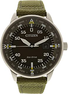 Citizen Eco-Drive Stainless Steel Nylon Strap Mens Watch BM7390-22X