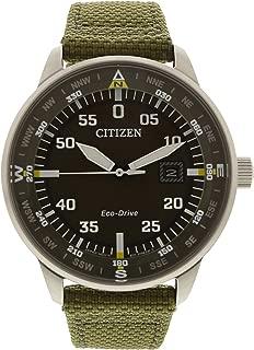 Citizen Eco-Drive Stainless Steel Nylon Strap Mens Watch BM7390-22X