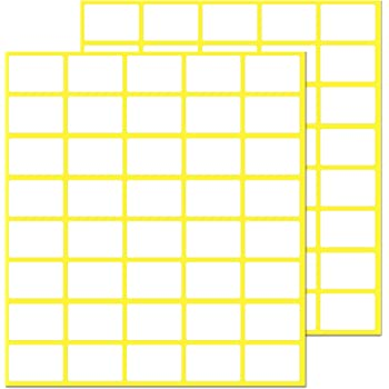 """0.5"""" x 0.75"""", 1000 Pack, Matte White Labels Stickers - for Price Labels"""