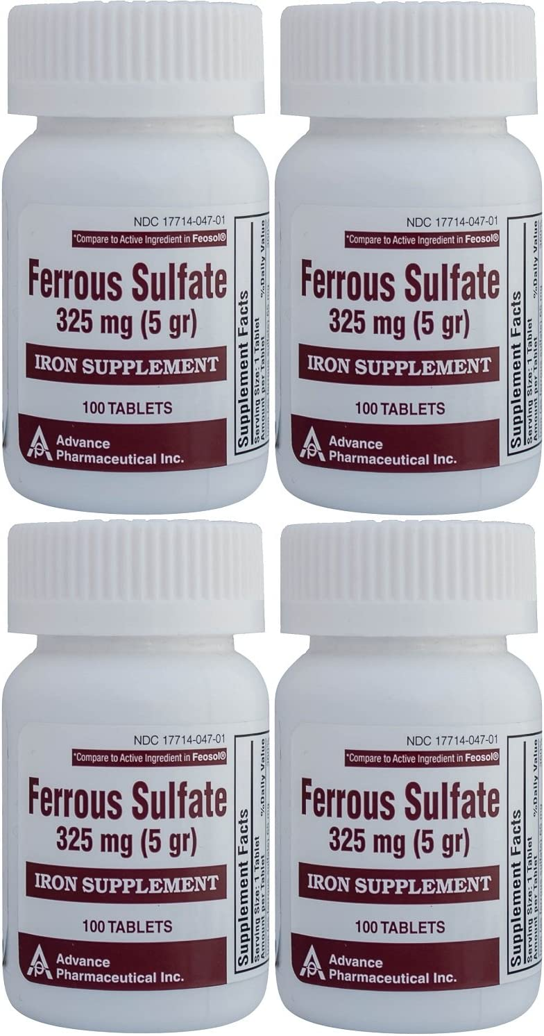 Tulsa Mall Ferrous Sulfate Iron Supplement 325 5GR Limited price sale mg Feosol for Generic