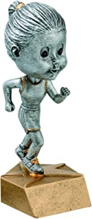 Decade Awards Track Bobblehead Trophy - Runner Award - 6 Inch - Customize Now