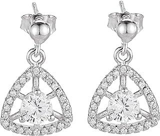 Aurora Women's Silver Diamond Earring