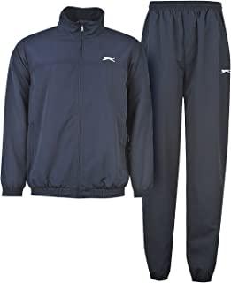 Slazenger Mens Woven Suit Tracksuit Long Sleeve Zip Top and Bottoms