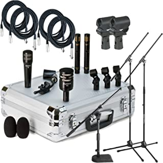 Audix DP-Quad Drum Mic Pack w/ Stands, Cables, and Mic Clips