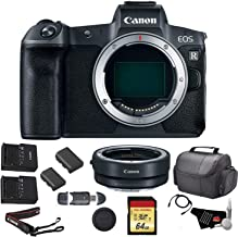 Canon EOS R Mirrorless Digital Camera (Body Only) Bundle with Canon Mount Adapter + 64GB Memory Card + Replacement Battery and More