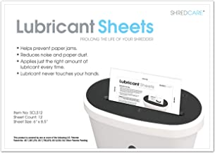 Shredcare Paper Shredder Lubrication Sheets SCLS12 Shredcare (Pack of 12) Shredder Lubrication Sheets Shredder