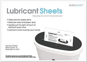 Shredcare Paper Shredder Lubrication Sheets SCLS12 Shredcare 12-Pack Shredder Lubrication Sheets Shredder