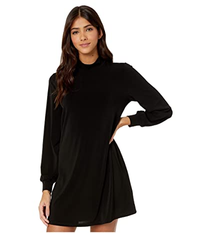 BCBGeneration Day Mock Neck Dress XYE65P56 (Black) Women