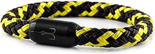 Fischers Fritze Armband Segeltau Torpedomakrele schwarz gelb - Handgemacht im Geschenkkarton I Maritim & Wasserfest
