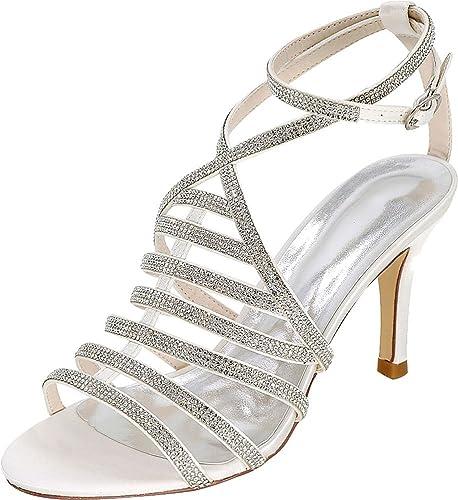 Find Nice , Bride Cheville Femme - Blanc - Blanc, 36.5