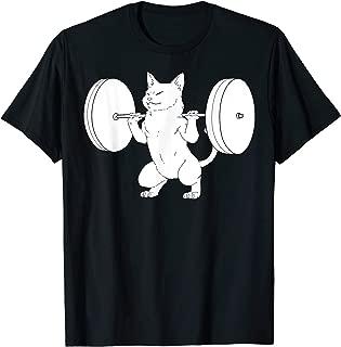 Cat Squat Powerlifting T-Shirt Cute