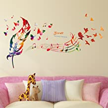 Amazon Brand - Solimo Wall Sticker for Home (Song of birds, ideal size on wall , 119 cm X 71 cm)