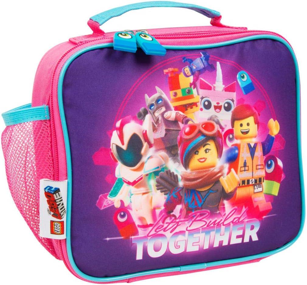 LEGO Movie 2 Bolsa Merienda Infantil Niña con Bolsillo Fiambrera Infantil para Niñas
