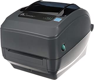 Zebra - GX420t Thermal Transfer Desktop Printer for labels, Receipts, Barcodes, Tags, and Wrist Bands - Print Width of 4 in - USB, Serial, and Ethernet Port Connectivity - GX42-102410-000,Black
