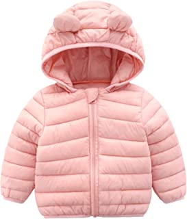 Winter Coats for Kids with Hoods (Padded) Light Puffer Jacket for Baby Boys Girls, Infants, Toddlers