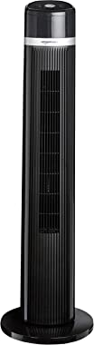 AmazonBasics Oscillating 3 Speed Tower Fan with Remote