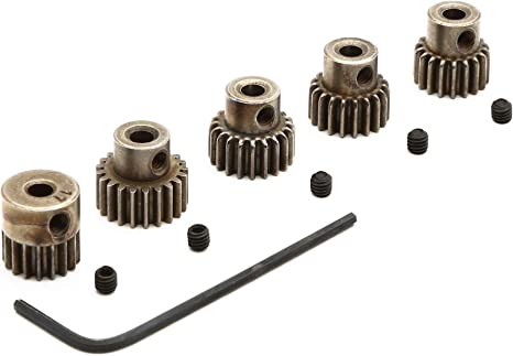 SCX PRO PINION 10 TOOTH GEAR ADAPTABLE 48 PITCH CROWN GEARS AND ENGINES #50430