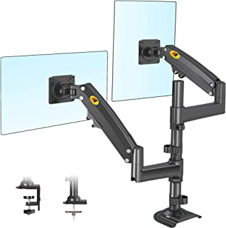 NB North Bayou Dual Monitor Desk Mount Stand Full Motion Swivel Computer Monitor Arm Fits 2 Screens up to 35'' with Load C...