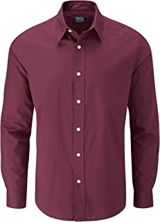 Charles Wilson Men's Long Sleeve Plain Poplin Shirt