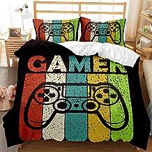 Poszewka na kołdrę zestaw 3D Gamepad komplet pościeli dla graczy, przyciski akcji do gier wideo, poszewka na poduszkę z za...