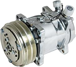 Top Street Performance HC5003C A/C Compressor with Silver Clutch (Chromed V-Belt Sanden 508 R134A Type)