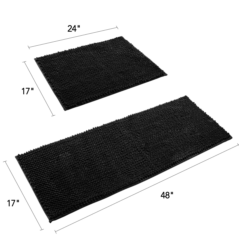 "D shape,KD nonskid KITCHEN TOOLS//UTENSILS ON BLACK 16/""x24/"" PRINTED NYLON RUG"