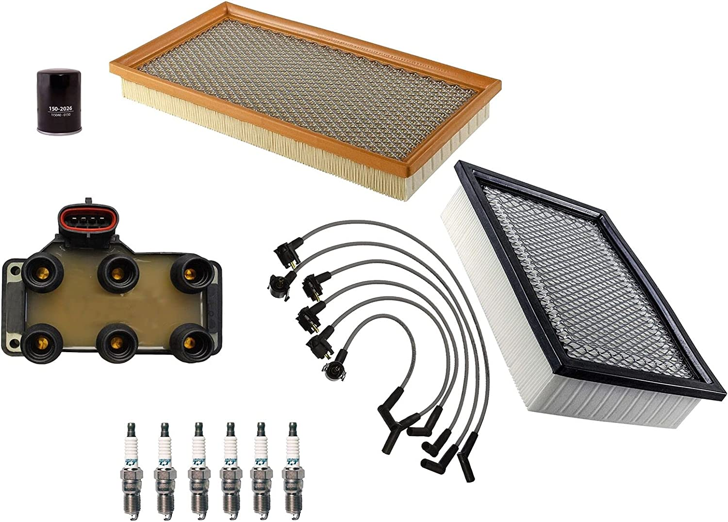 Filters Wires Baltimore Mall 6 Spark Plugs Ranking TOP1 Tune Ford with Up Compatible kit
