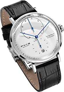 FEICE Automatic Watch for Men Bauhaus Watch Mens Mechanical Watch Stainless Steel Domed Mirror Analog Casual
