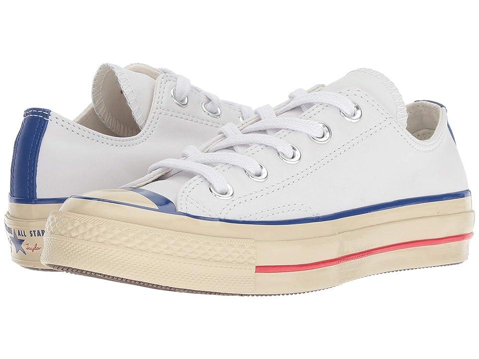 Converse Chuck 70 Retro Letterman Ox (White/Converse Blue/Egret) Shoes