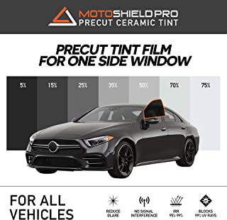 MotoShield Pro Precut Ceramic Tint Film [Blocks Up to 99% of UV/IRR Rays] Window Tint for Vehicles - (1) One Replacement Side Window Only, Any Tint Shade