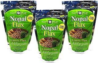 Nopal Flax Linaza Plus Adelgazante Value Pack (3 bags) Colon Cleanse Shake