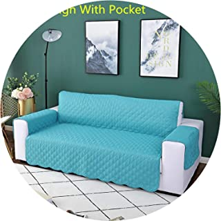 Little Happiness- Sofa Couch Cover Chair Throw Pet Dog Kids Mat Furniture Protector Reversible Washable Removable Armrest Slipcovers 1/2/3 Seat,Wave Design C,3 Seat (190-195cm)