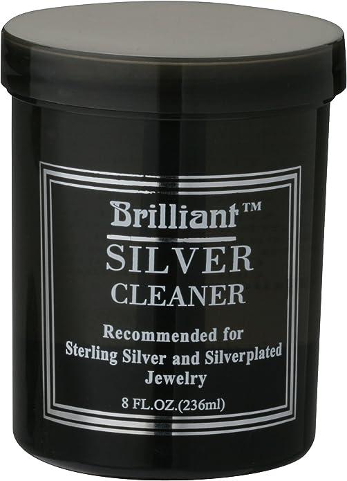2. Brilliant 8 Oz Silver Jewelry Cleaner