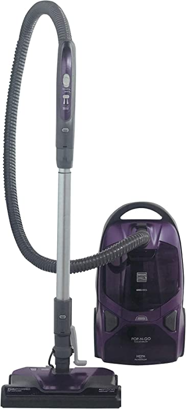 Kenmore 600 Series Friendly Lightweight Bagged Canister Vacuum With Pet PowerMate Pop N Go Brush 2 Motors HEPA Aluminum Telescoping Wand Retractable Cord And 3 Cleaning Tools Purple