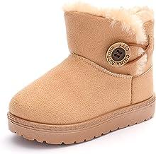 BENHERO Baby Girls Boys Warm Winter Anti-Skid Slip-on Outdoor Snow Boots(Toddler/Little Kid)